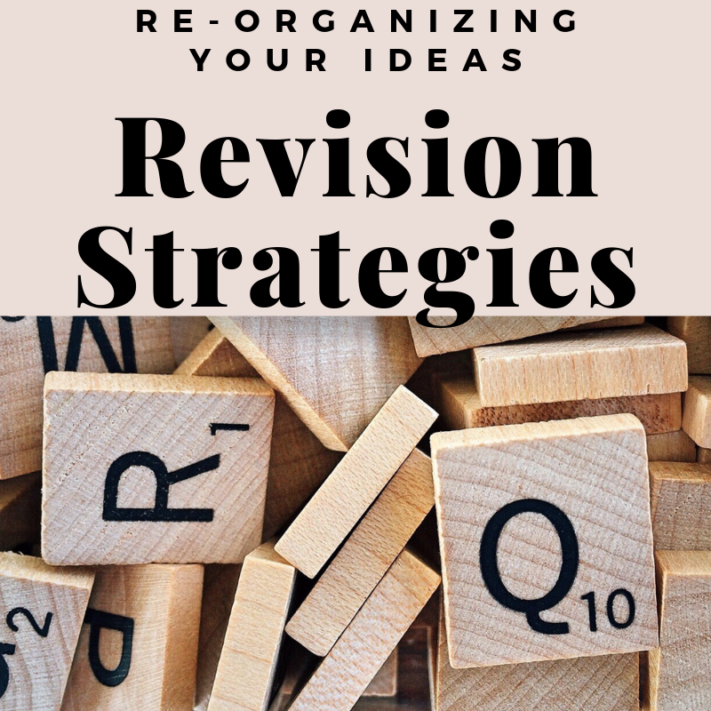 Graphic with letter tiles highlighting the revision strategies section